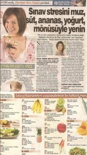 Sınav Stresini Muz, Süt, Ananas Yoğurt Menüsüyle Silin