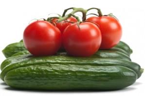 Sağlıklı Yaşam Salatalık ve Domates