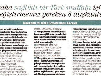 Daha Sağlıklı Bir Türk Mutfağı için Değiştirmeniz Gereken 8 Alışkanlık